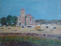 Espagne, Village et Eglise sous le soleil