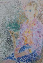 Femme en pointillé (dernier tableau)