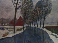 Flandres, canal enneigé