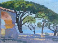 Saint Tropez chapelle et arbres